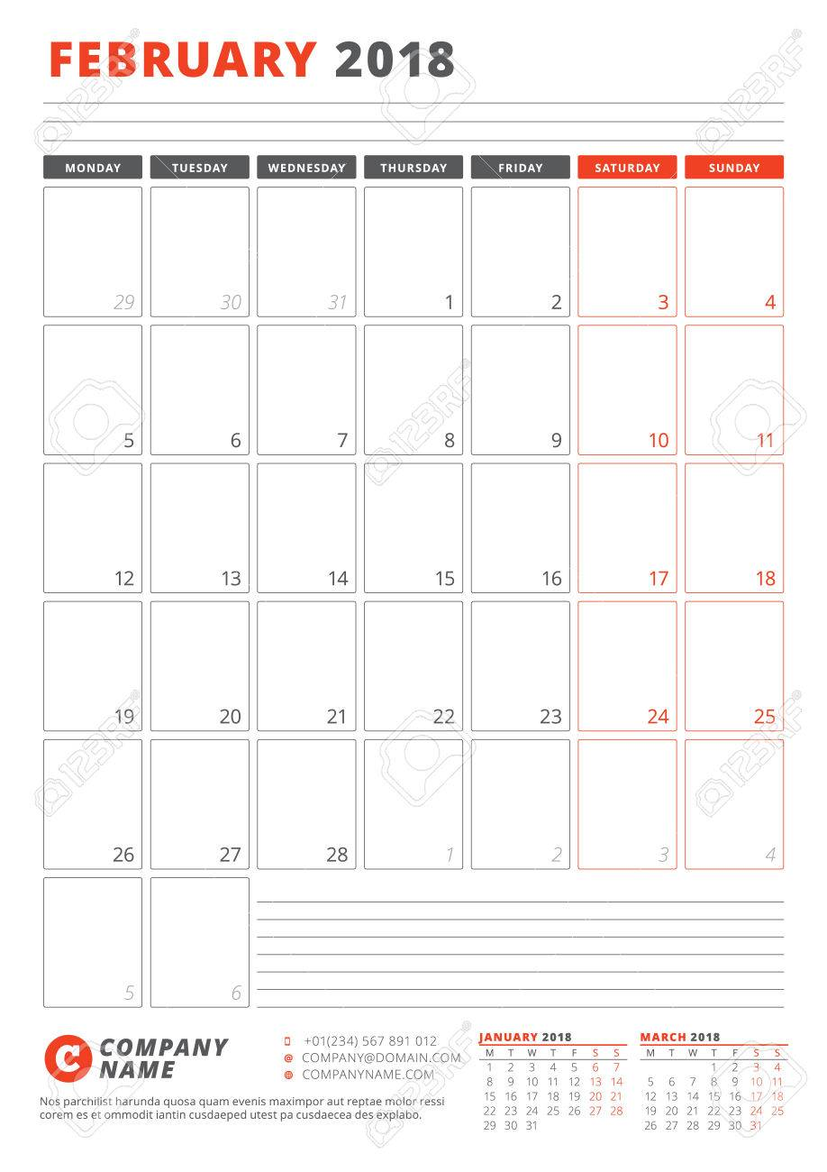 Calendar template for february 2018 business planner 2018 template calendar template for february 2018 business planner 2018 template stationery design week starts cheaphphosting Choice Image