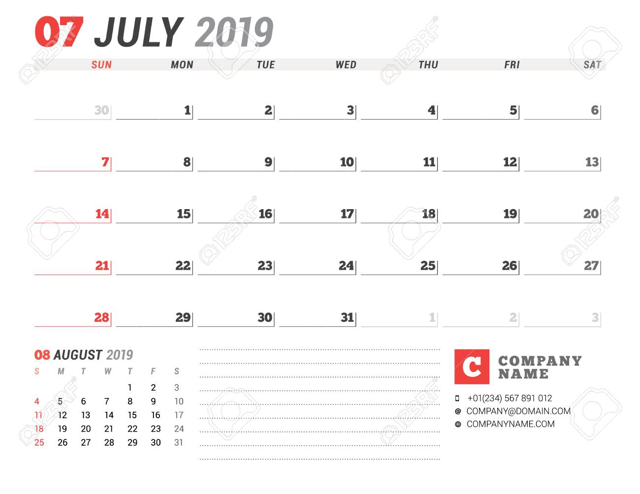 Calendar template for july 2019 business planner stationery calendar template for july 2019 business planner stationery design week starts on sunday wajeb Images