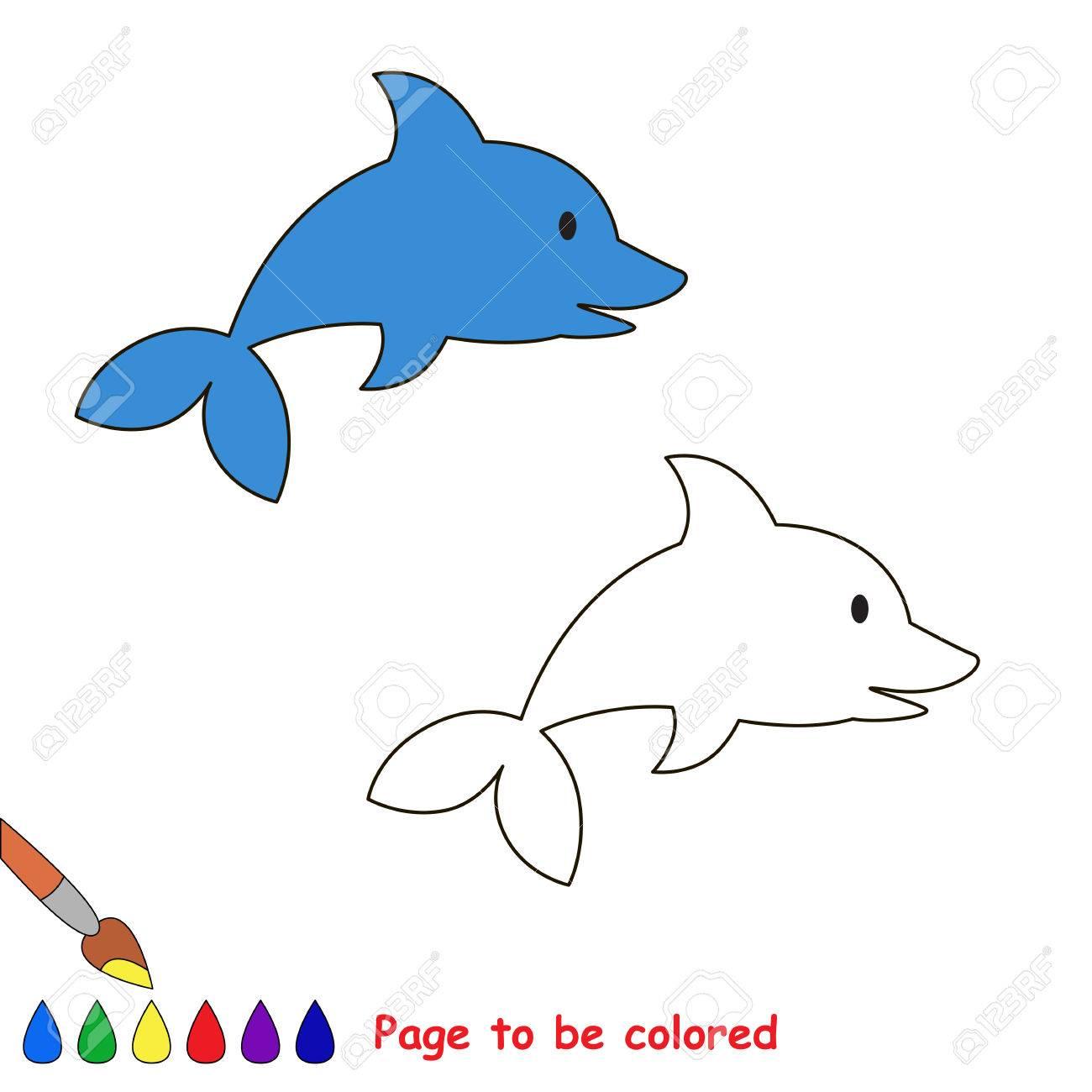 Delfín De La Historieta Sea Colorer. Libro Para Colorear Para Los ...