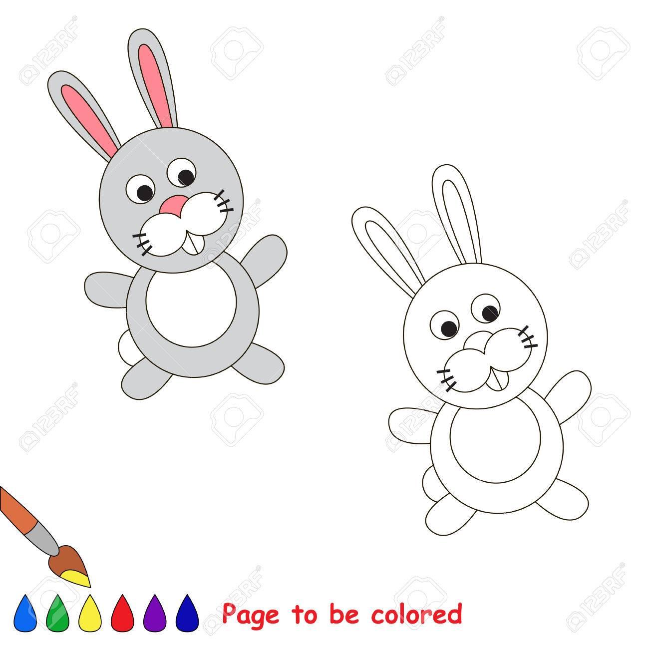 Bonito Libro De Colores De Conejos Blancos Bandera - Enmarcado Para ...