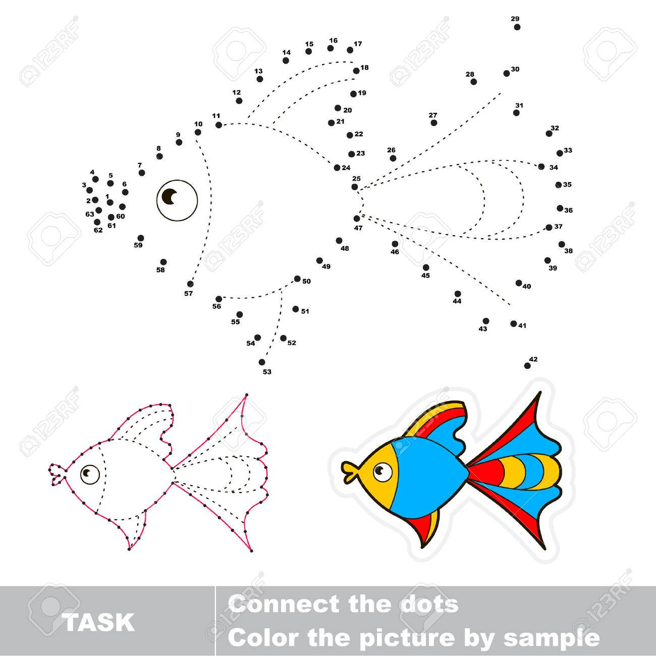 Join Dots And Find The Hidden Picture Dot To Dot Trace Game