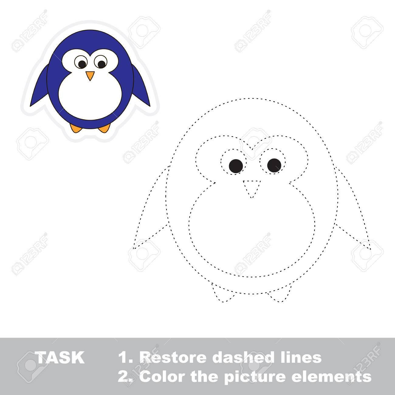 penguin restaurar línea discontinua y la imagen en color trazar