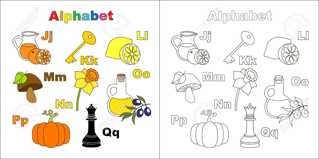 Vector object alphabet cute alphabet in vector objects page vector object alphabet cute alphabet in vector objects page to be colored juice altavistaventures Images
