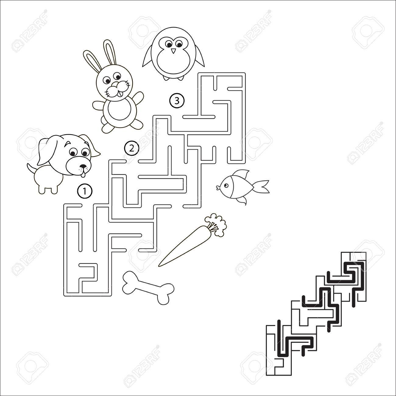 find hidden right way task and answer maze game for children search and - Hidden Pictures For Children