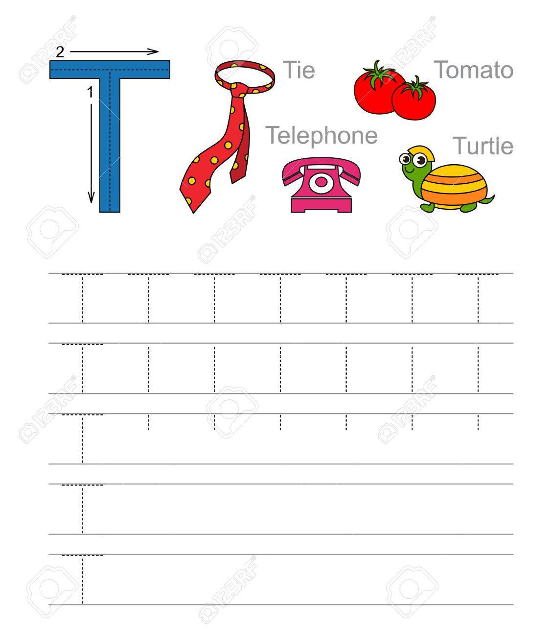 Großartig Buchstaben T Tracing Arbeitsblätter Vorschule Ideen ...