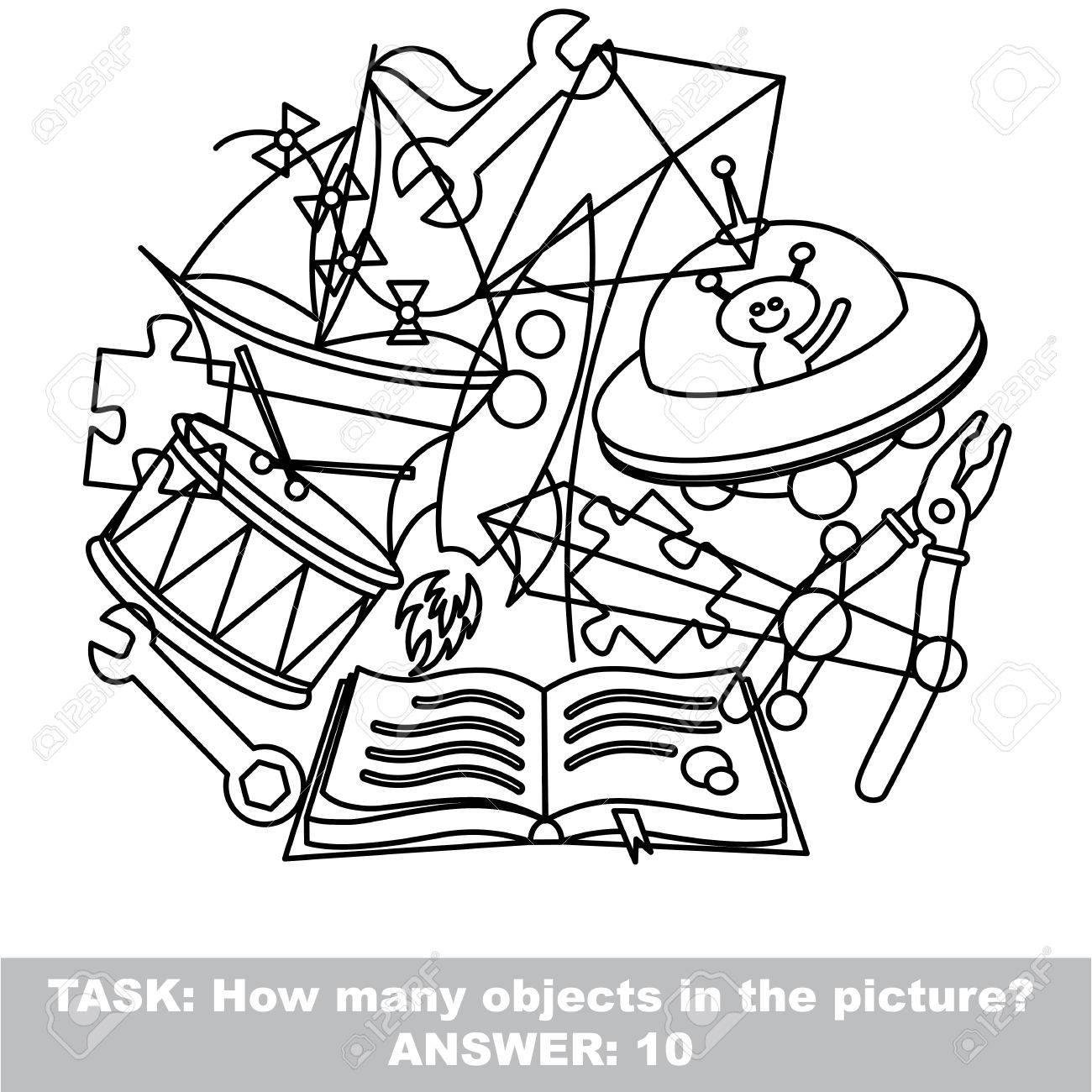 Gemütlich Ausmalbilder Für Versteckte Objekte Zeitgenössisch ...