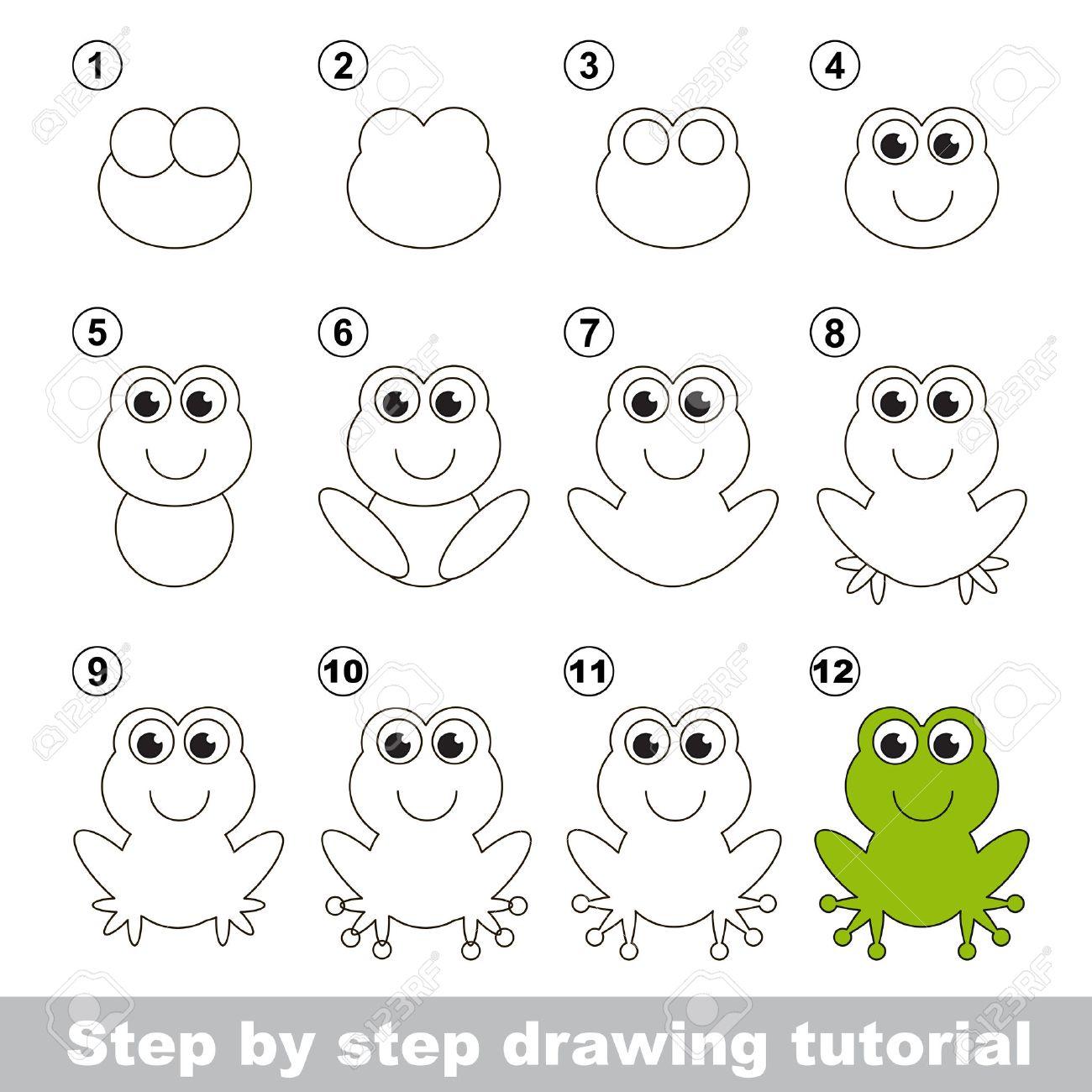 Frosch Schnell Zeichnen Lernen Fur Kinder 1