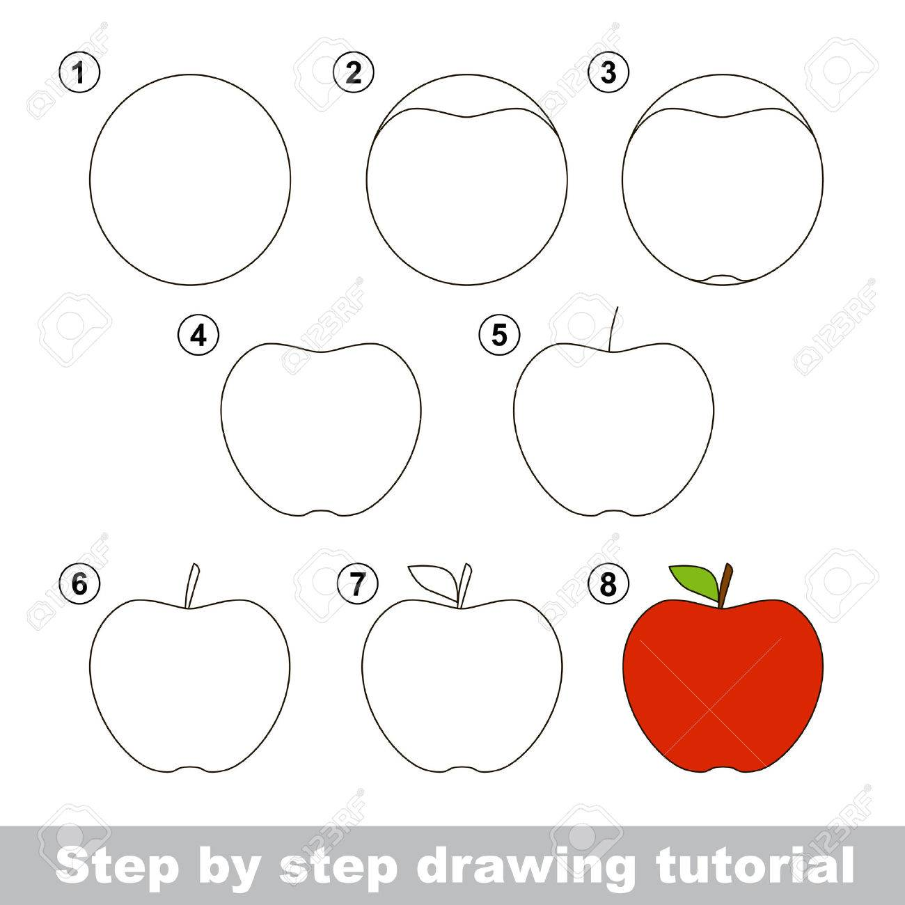 Step By Step Drawing Tutorial Visual Game For Kids How To Draw