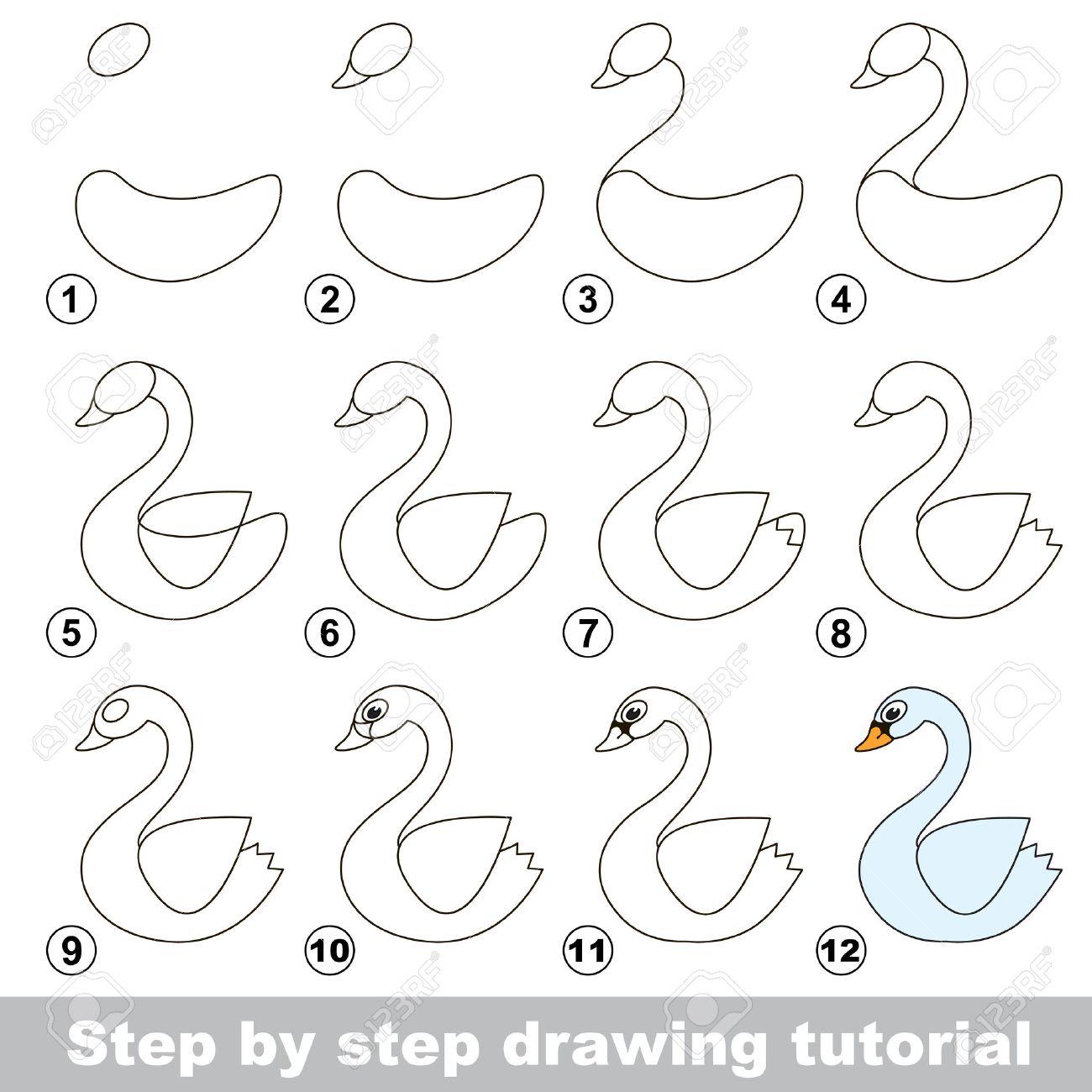 Paso A Paso Tutorial De Dibujo Juego Visual Para Los Niños Cómo