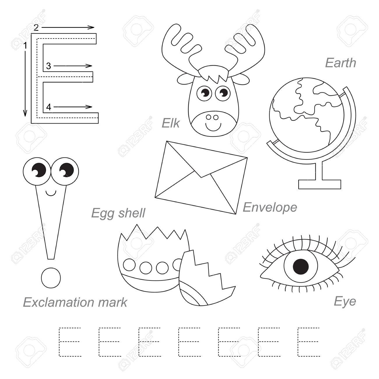 worksheet Letter E Worksheet tracing worksheet for children full english alphabet from a to z pictures letter