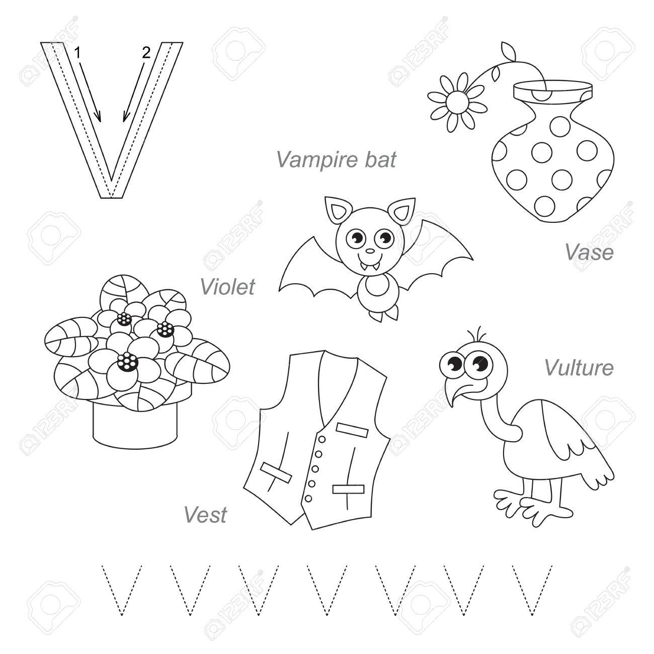 tracing worksheet for children full english alphabet from a to z pictures for letter