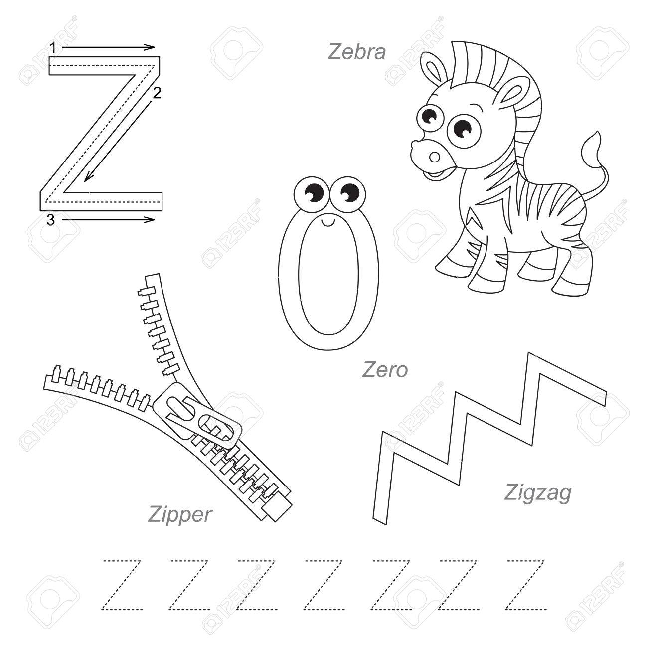 worksheet Letter Z Worksheet tracing worksheet for children full english alphabet from a to z pictures letter