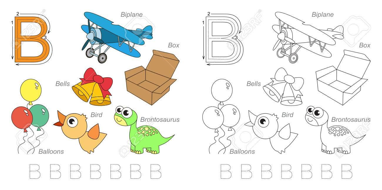 Hoja De Trabajo De Rastreo Para Los Niños. Inglés Alfabeto Completo ...