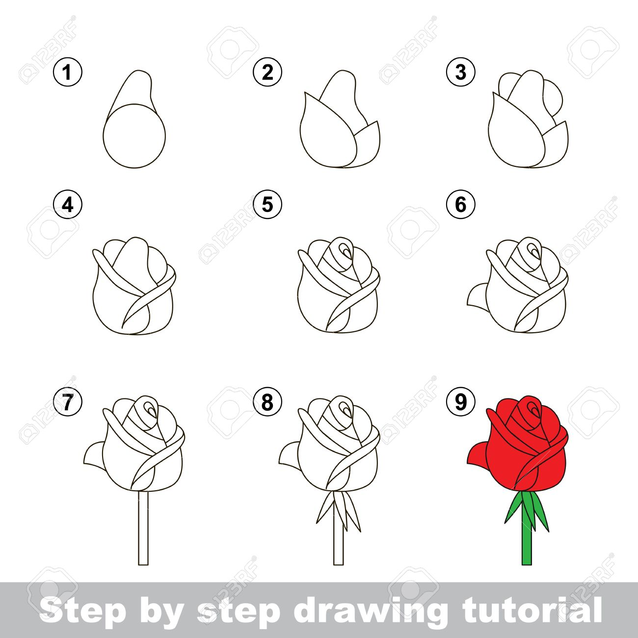 Schritt Fur Schritt Zeichnung Tutorial Vector Kid Spiel Wie Eine