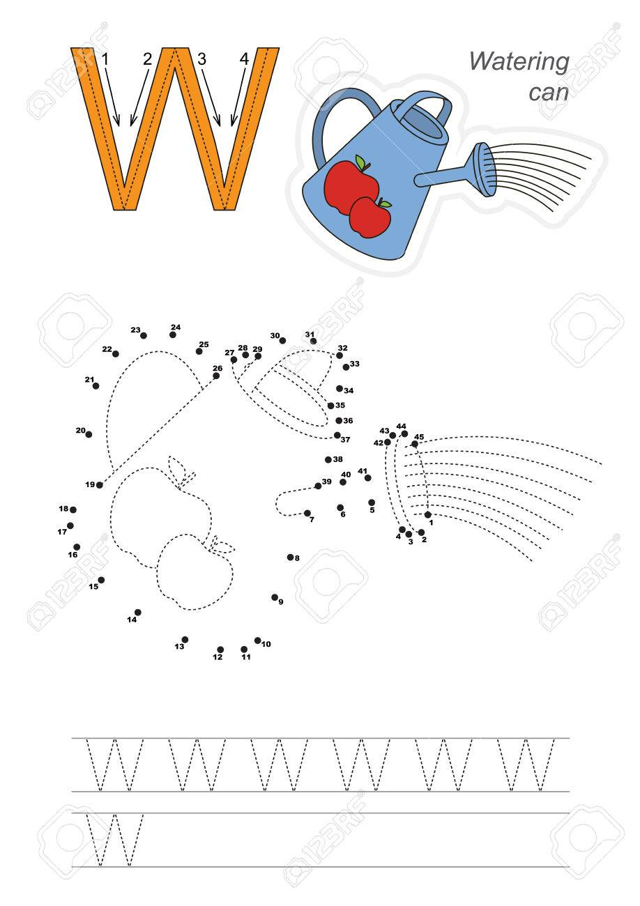 Vector Übung Dargestellt Alphabet. Lernen Handschrift. Schließen Sie ...