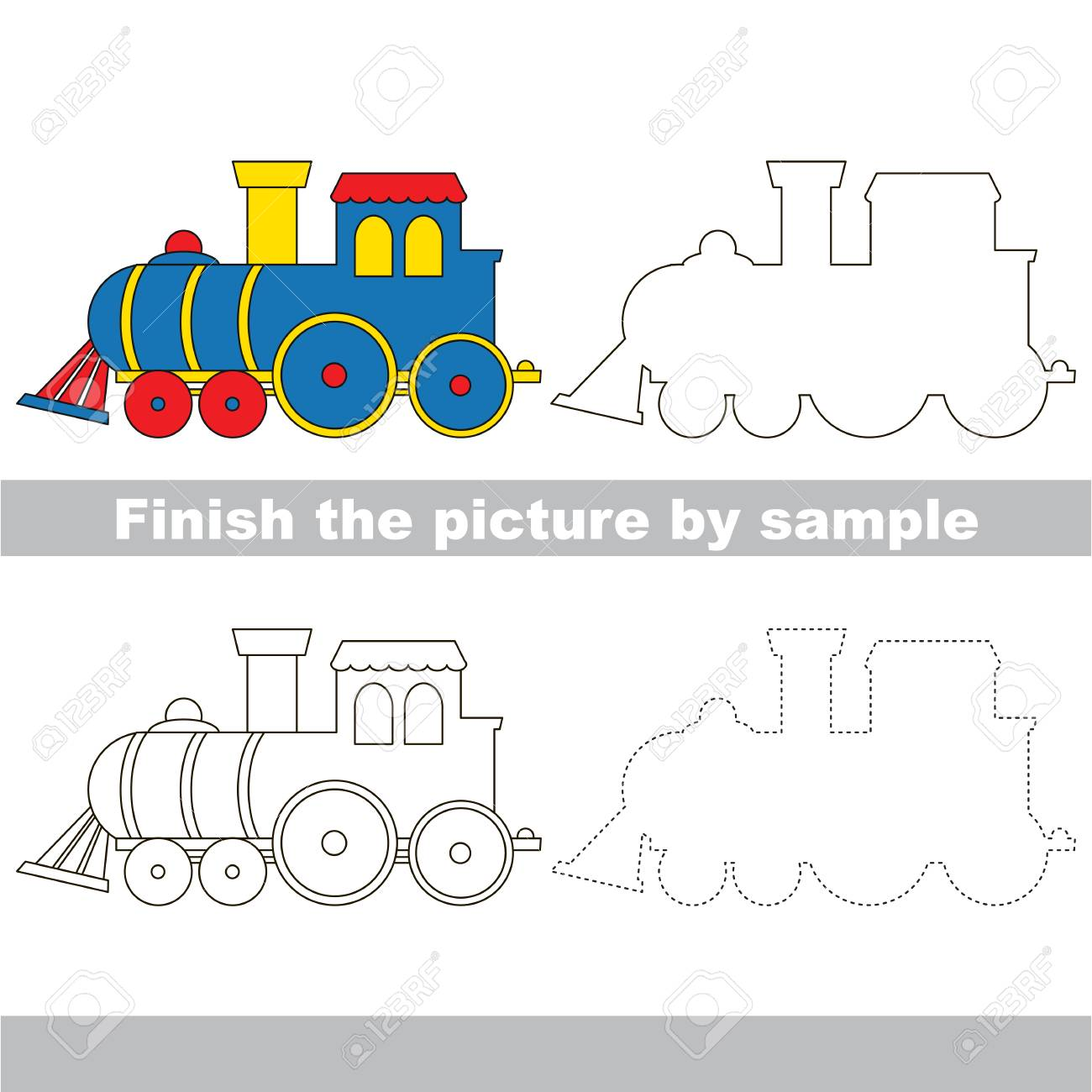 Drawing Worksheet For Children. Finish The Picture And Draw The ...