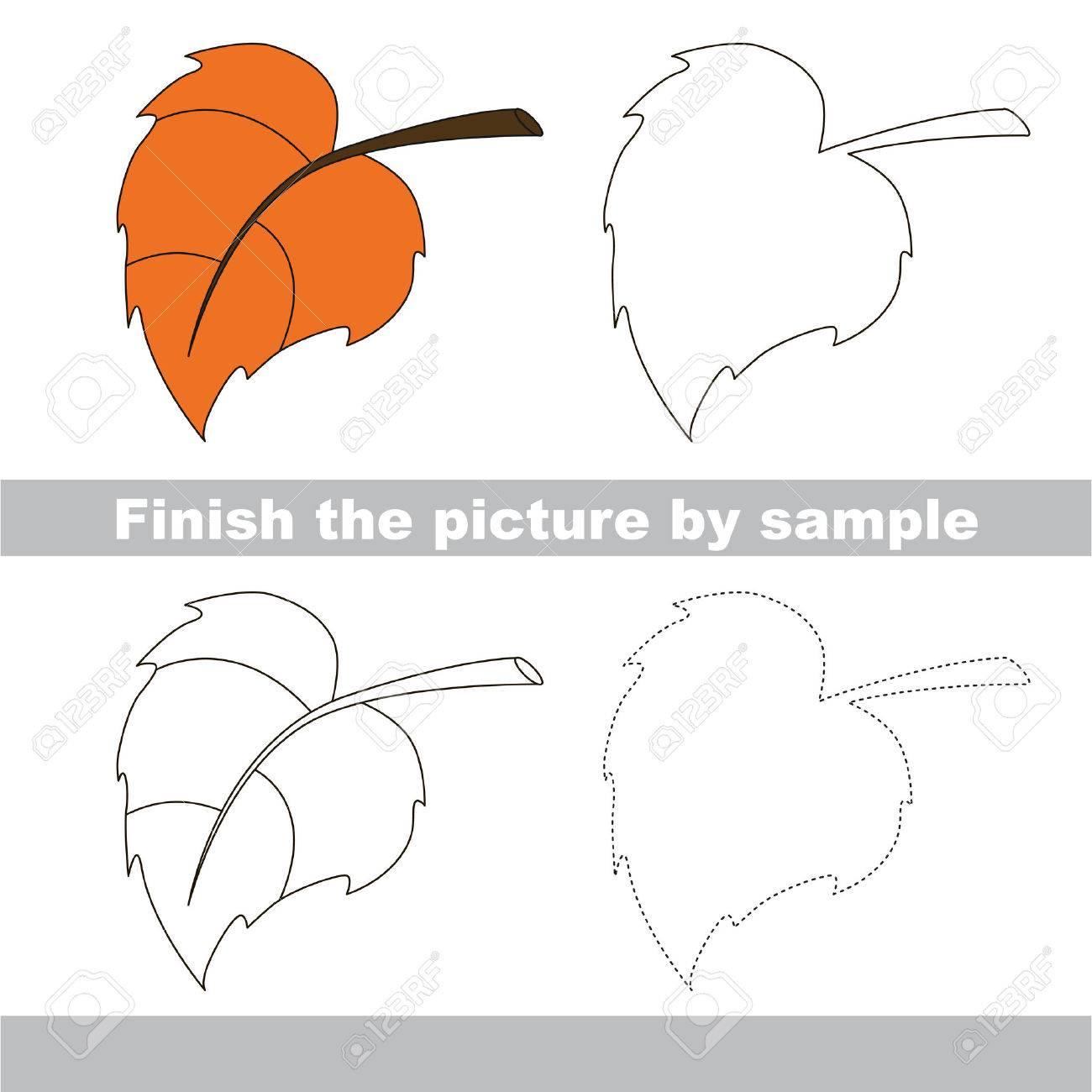 Zeichnung Arbeitsblatt Für Kinder. Beenden Sie Das Bild Und Ziehen ...