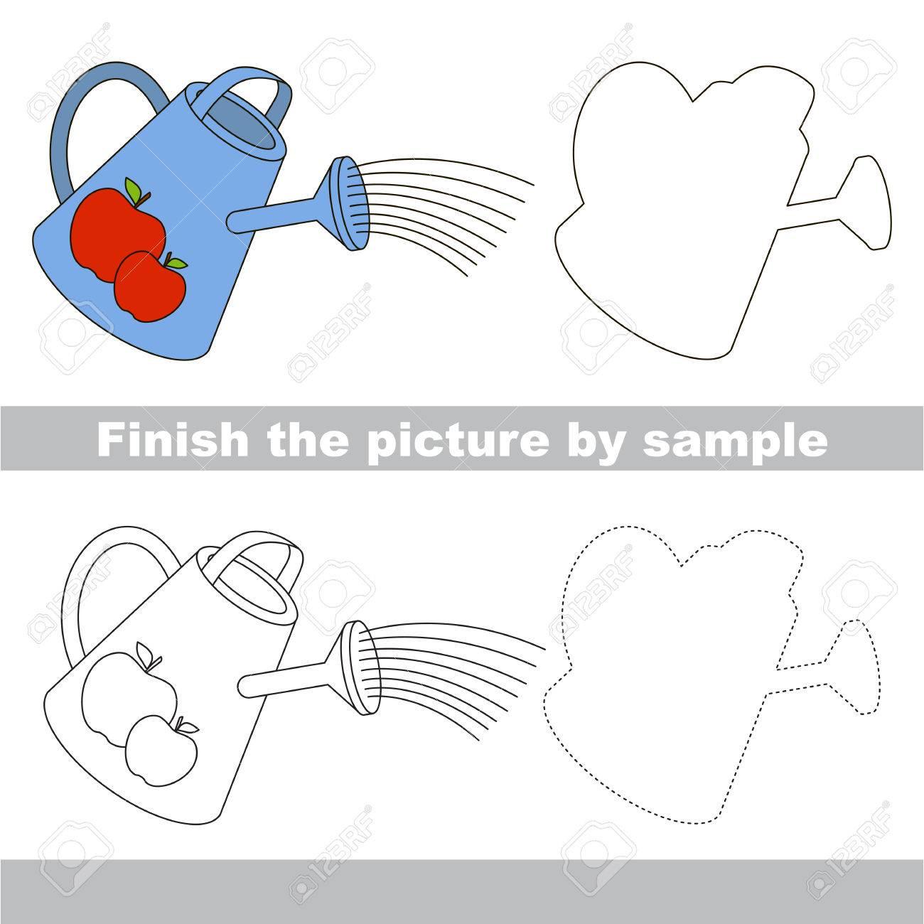 Zeichnung Arbeitsblatt Für Kinder. Beenden Sie Das Bild Und Die ...