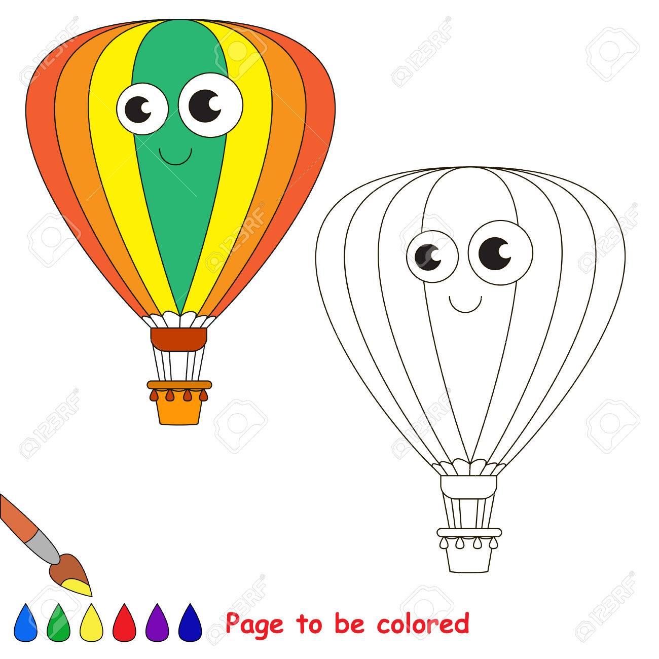 Aerostat A Ser De Color Libro De Colorante Para Educar A Los Ninos