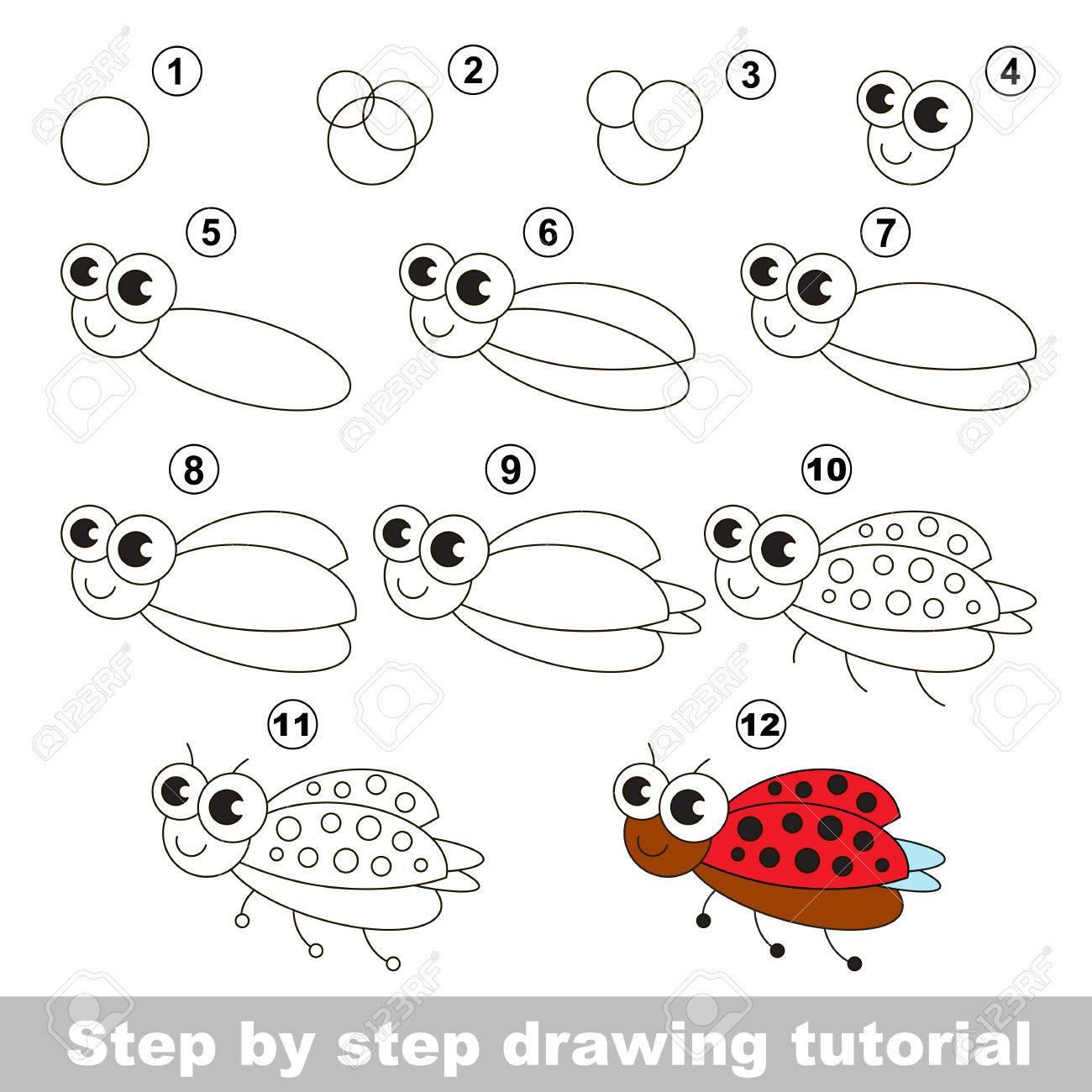 Favoloso Disegno Tutorial Per I Bambini. Facile Gioco Bambino Educativo  OM39