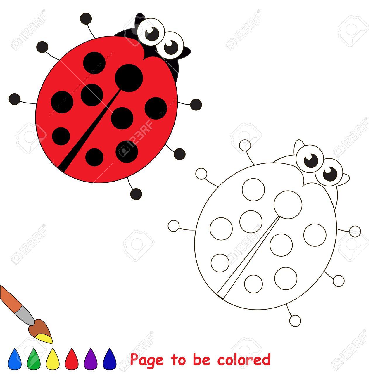 Mariquita Para Colorear Libro De Colorante Para Educar A Los Ninos