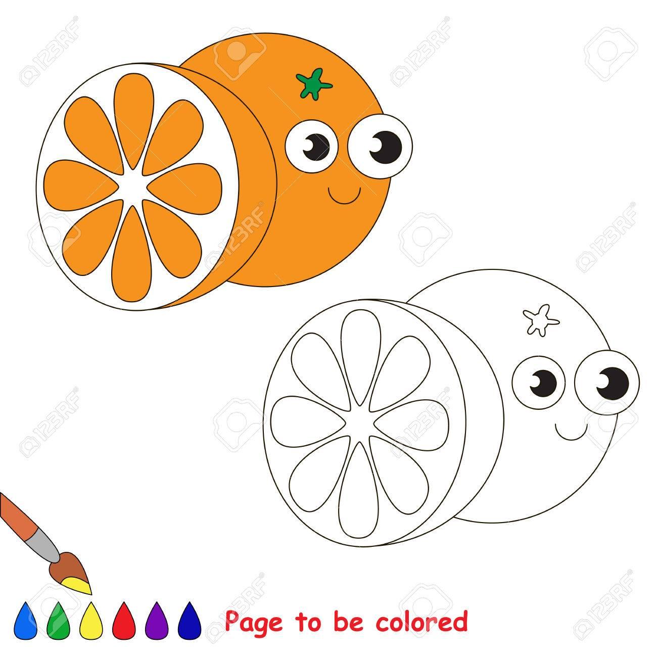 Anaranjado Divertido Para Ser Coloreado. Libro De Colorante Para ...