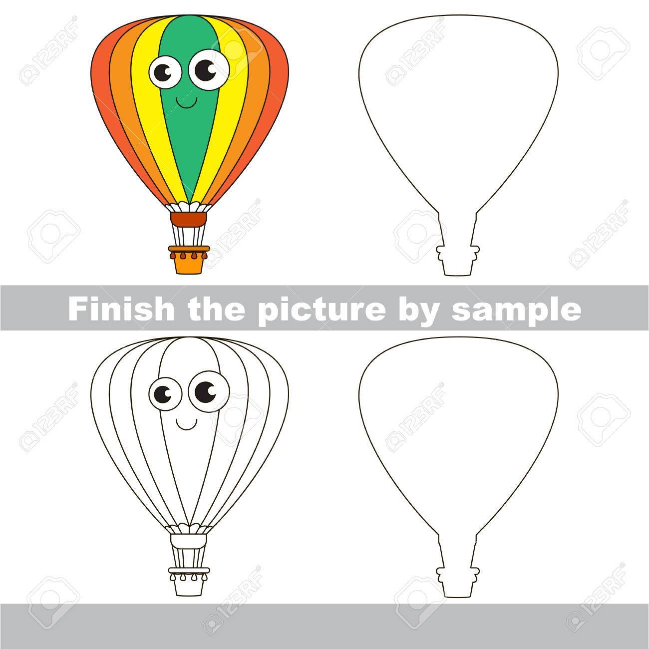 Zeichnung Arbeitsblatt Für Kinder. Einfache Pädagogische Kinderspiel ...