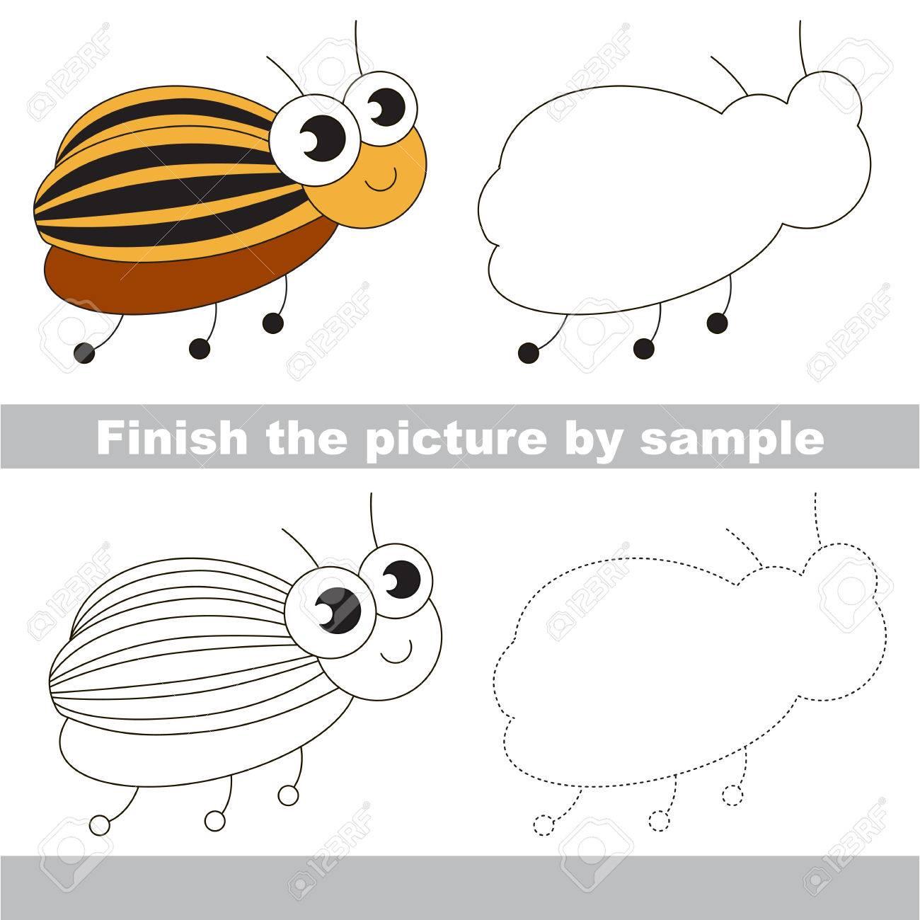 Dibujo Hoja De Trabajo Para Los Niños. Fácil Juego De Niños. Simple ...