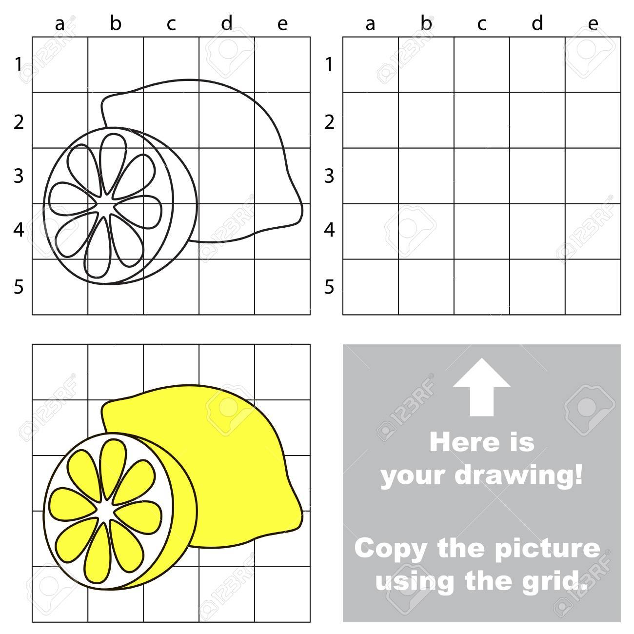 drawing using a grid for kids archives easy drawings