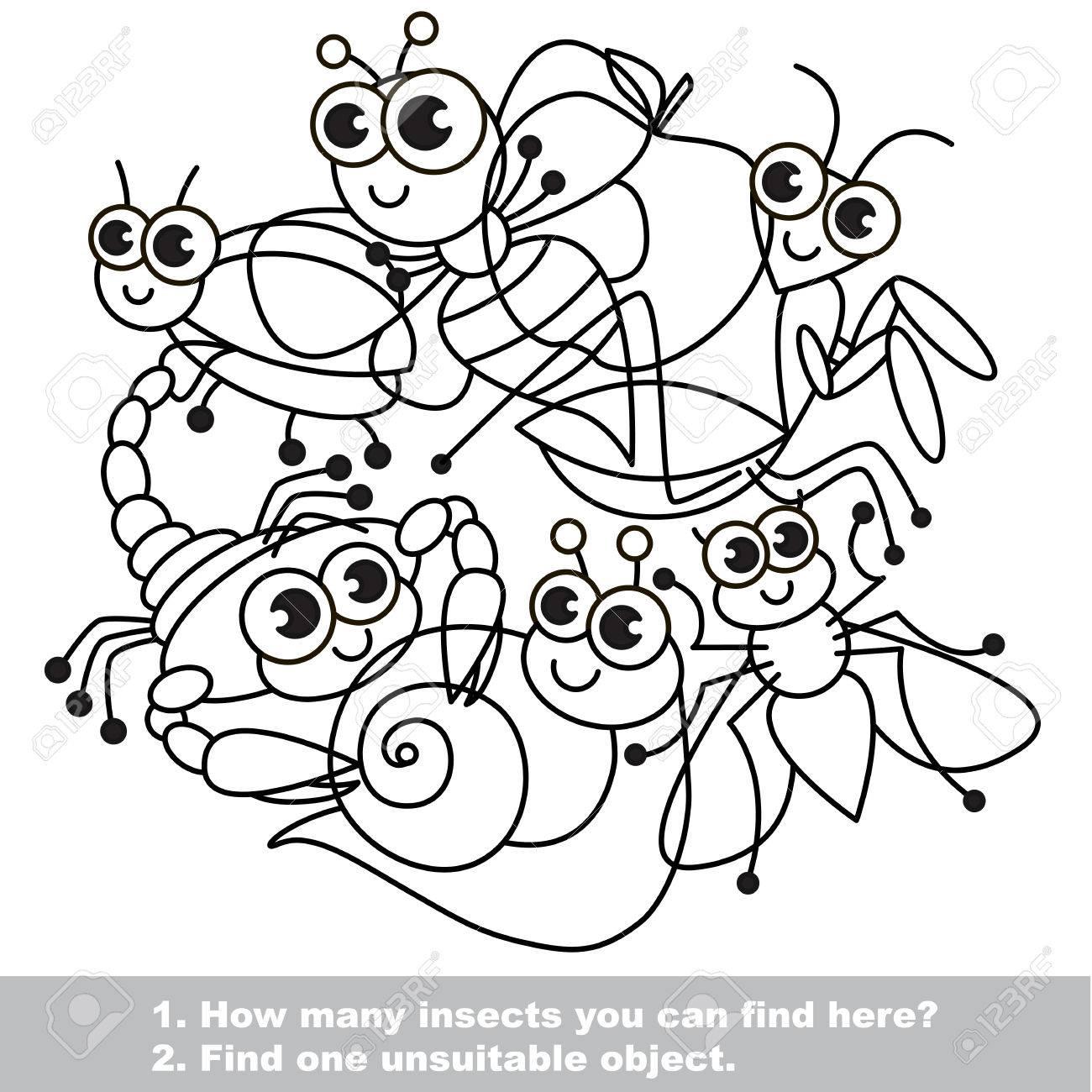 Insectos Lindos. La Mezcolanza Sencilla Configuración En El Vector ...