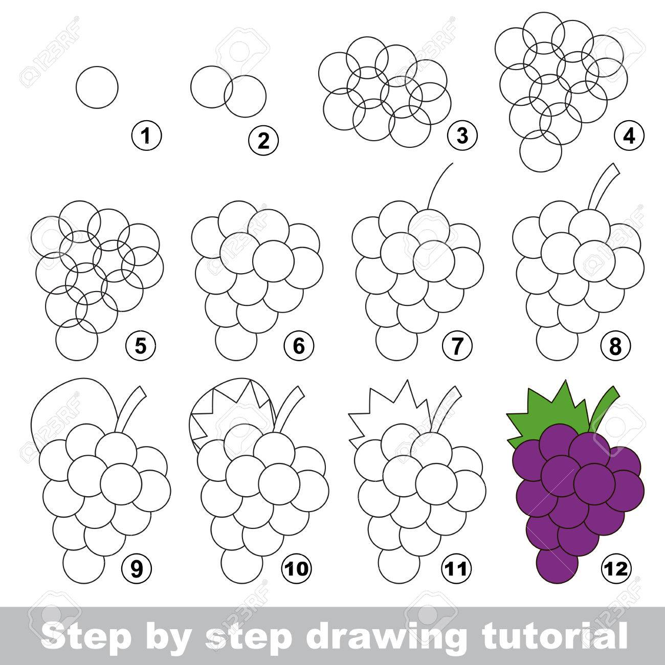 Drawing Tutorial For Children Easy Educational Kid Game Simple Royalty Free Cliparts Vectors And Stock Illustration Image 64757017
