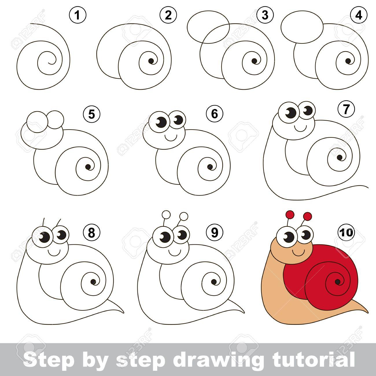 Molto Disegno Tutorial Per I Bambini. Facile Gioco Bambino Educativo  XD93