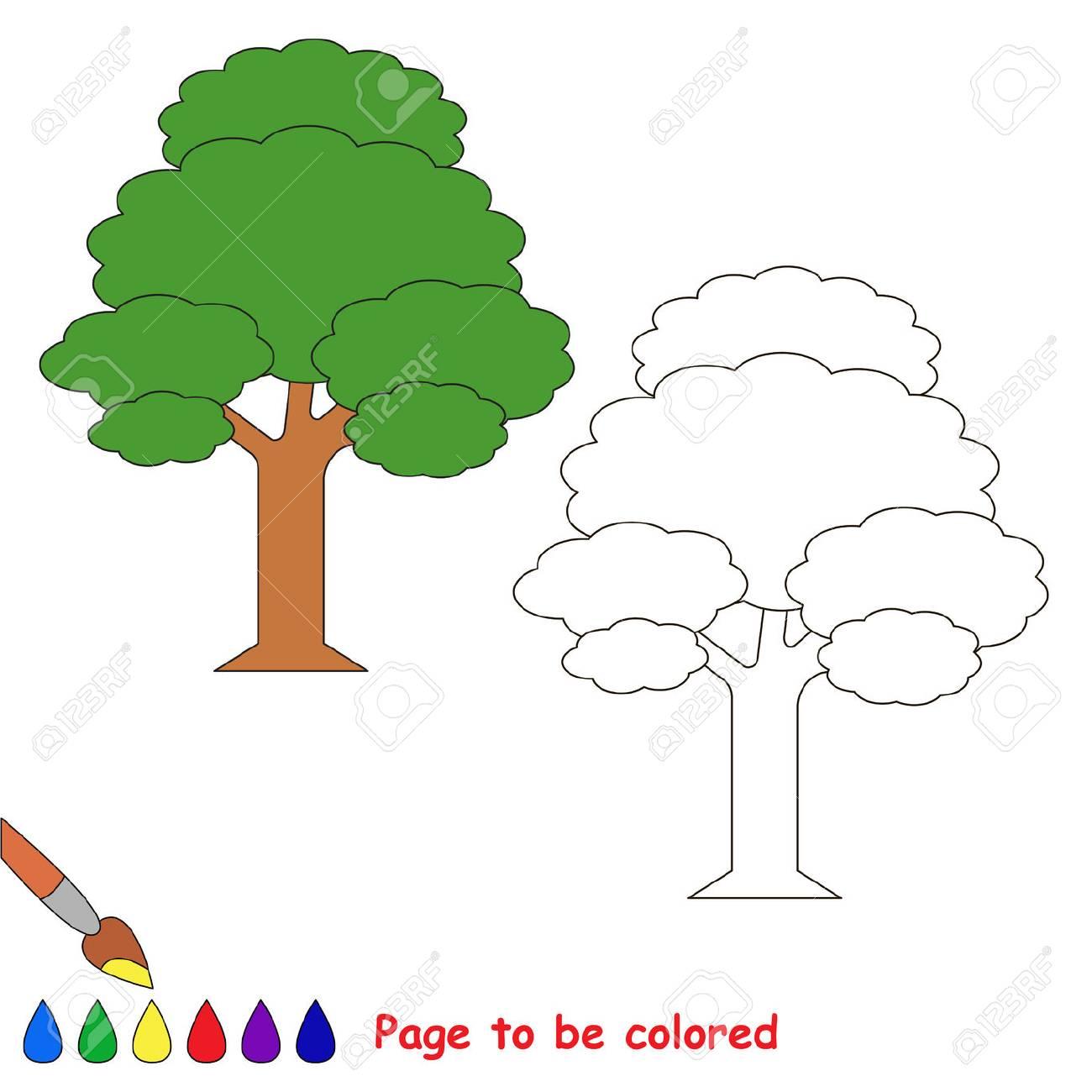 Immagini Stock Albero Delle Foglie Da Colorare Il Libro Da