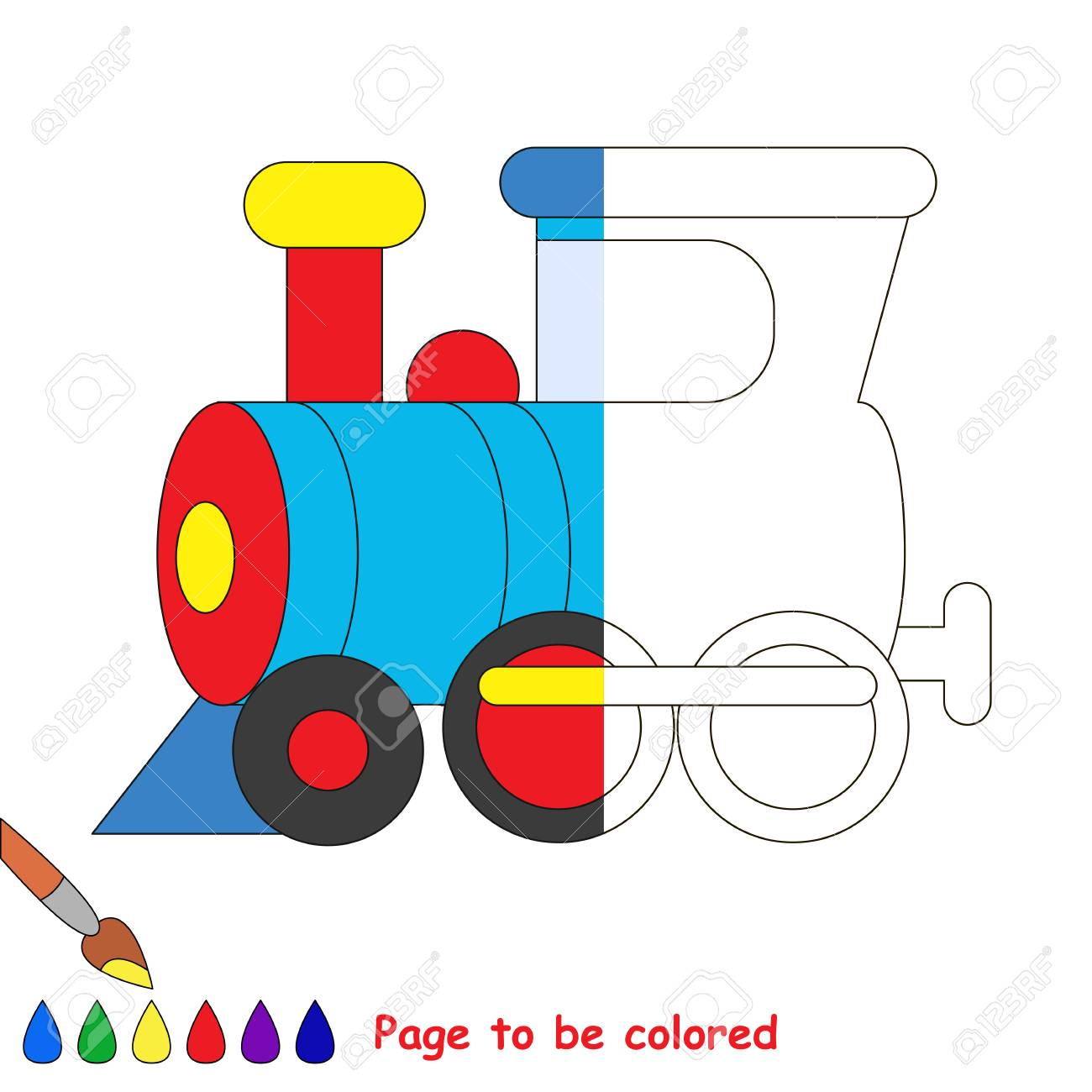 Train To Be Colored, The Coloring Book To Educate Preschool Kids ...