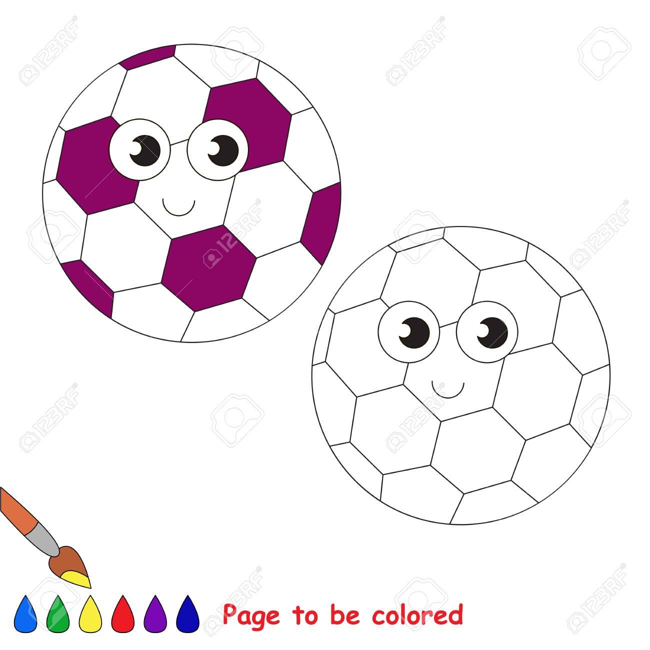 Balón De Fútbol Para Colorear El Libro Para Colorear Para Educar A Los Niños En Edad Preescolar Con Juegos Educativos Fáciles Para Niños Y