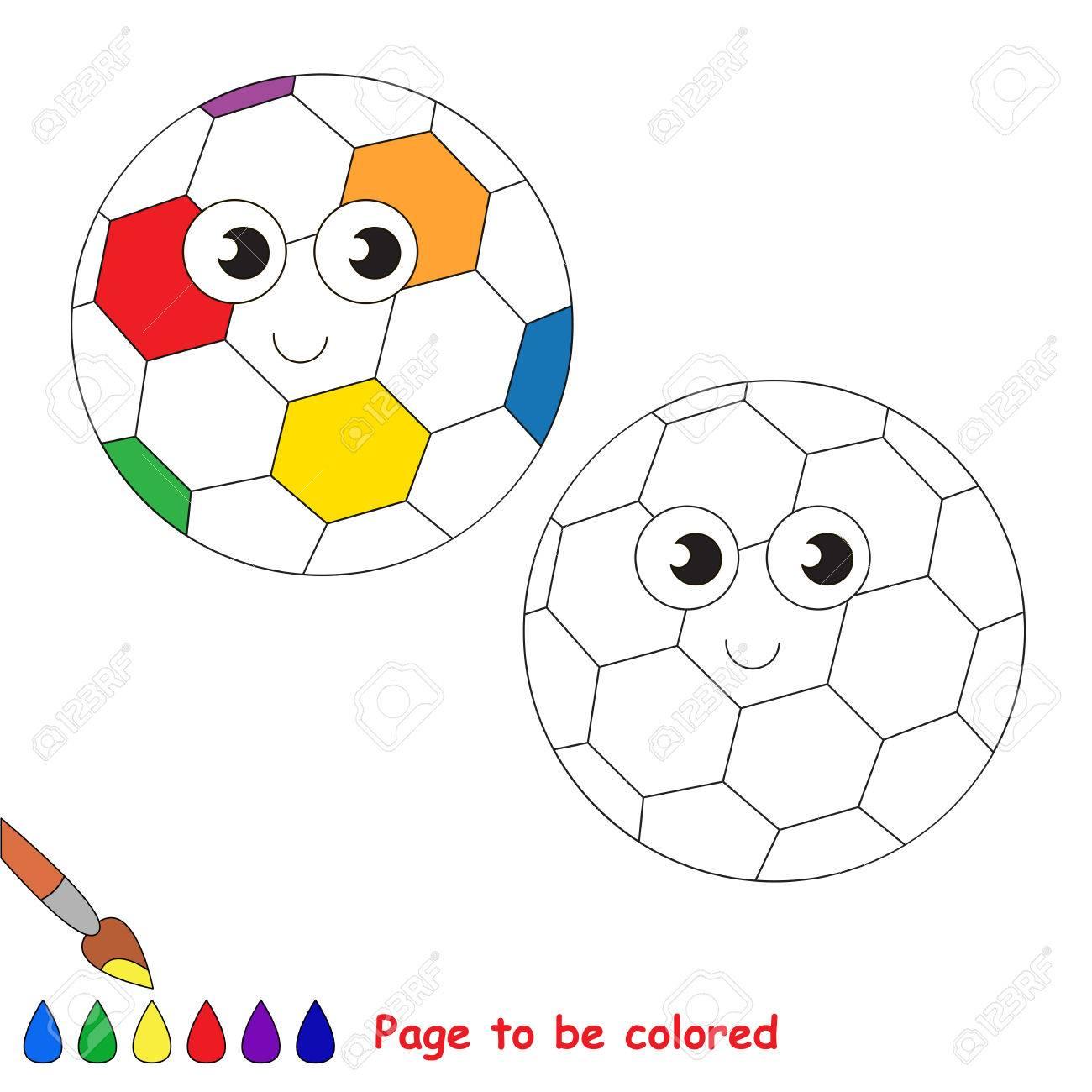 Balón De Fútbol Del Arco Iris Para Colorear El Libro Para Colorear Para Educar A Los Niños En Edad Preescolar Con Juegos Educativos Fáciles Para