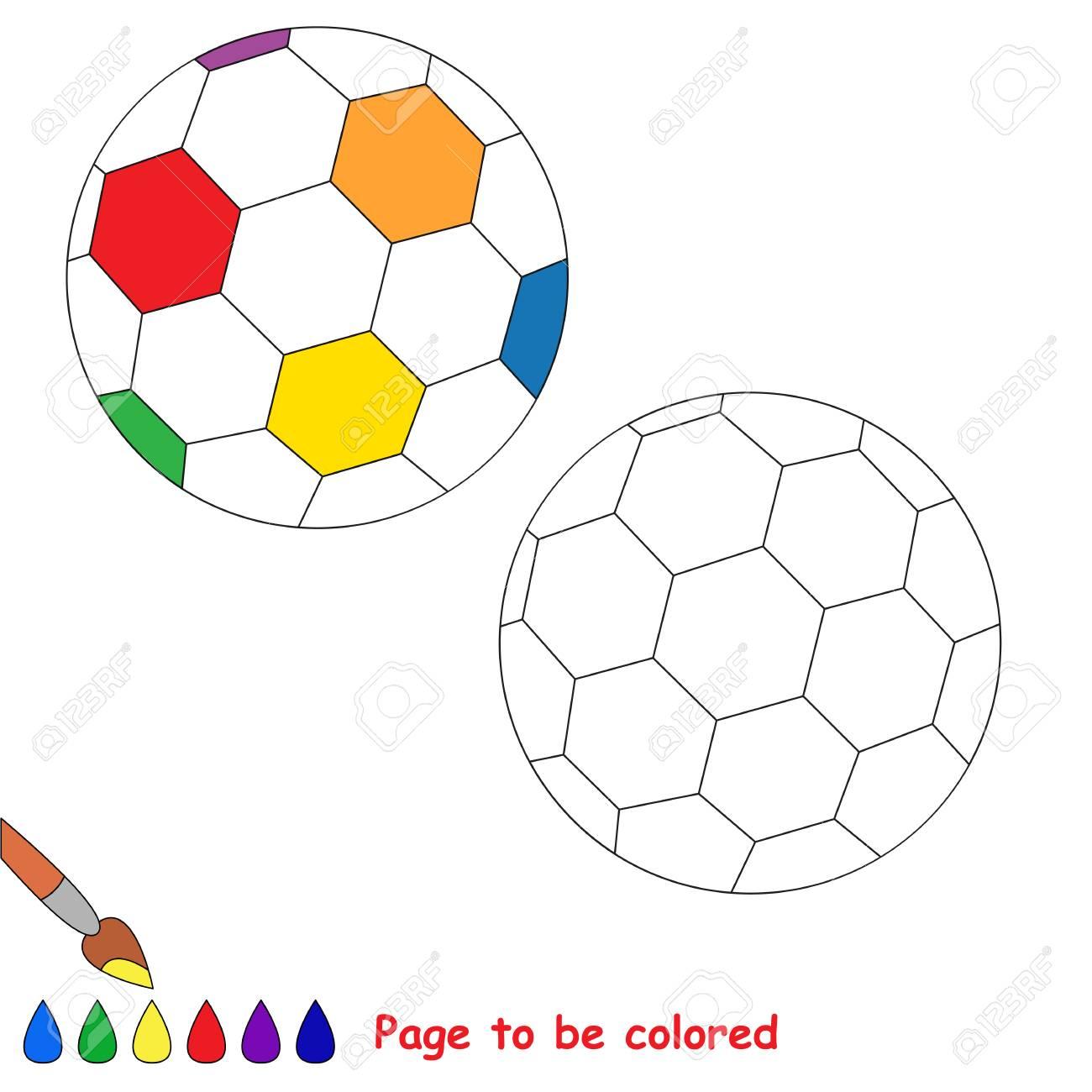 Gefärbt Zu Werden Regenbogen-Fußball-Ball, Das Malbuch, Um ...