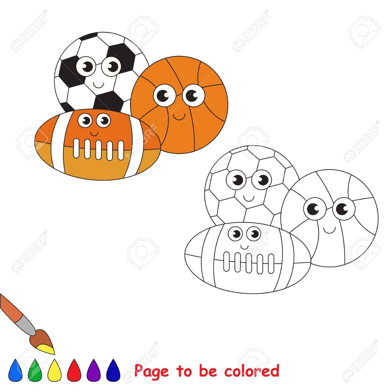 Vettoriale Sfere Da Colorare Il Libro Da Colorare Per Educare I