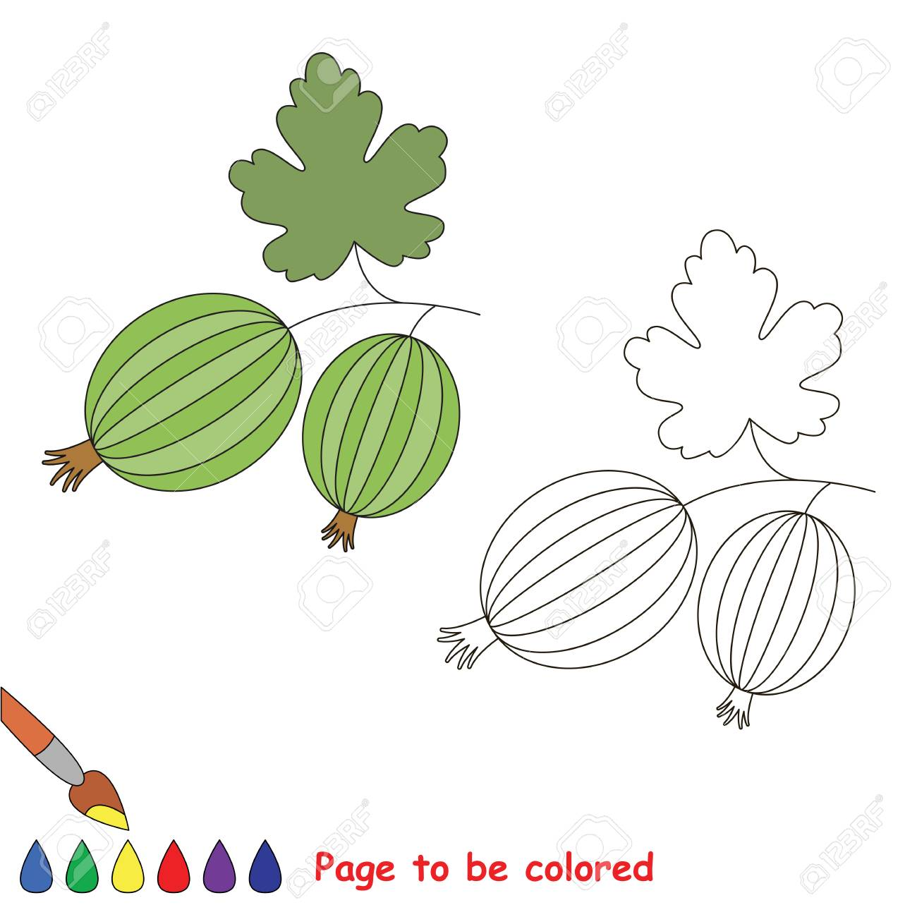 Educational Worksheet To Be Colored By Sample. Easy Educational ...