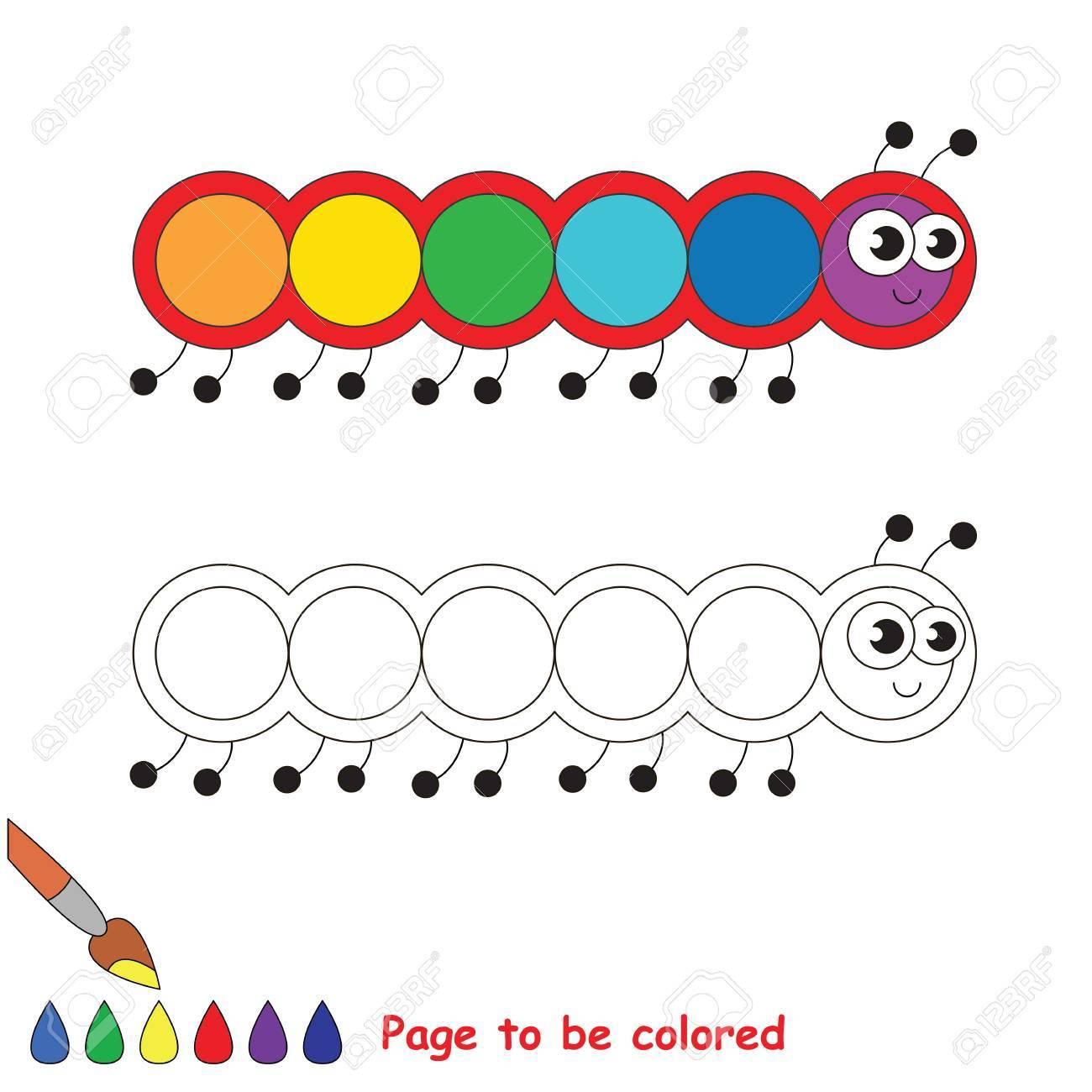 Caterpillar Para Colorear El Libro Para Colorear Para Educar A