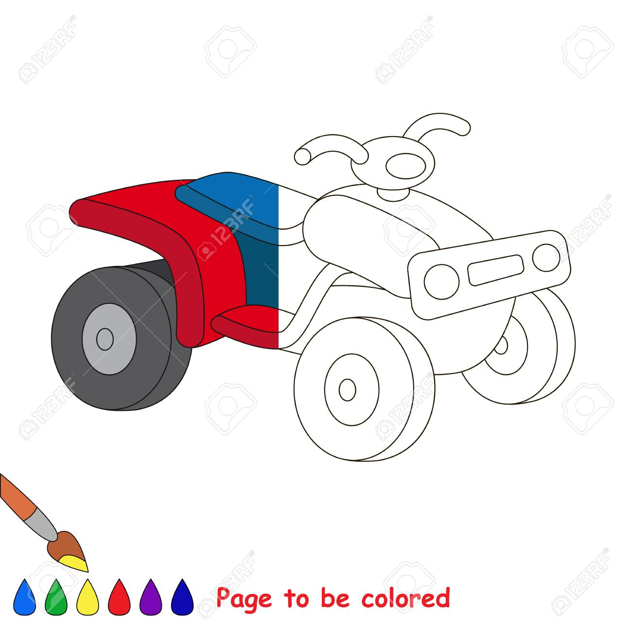 Dessin Quad A Colorier