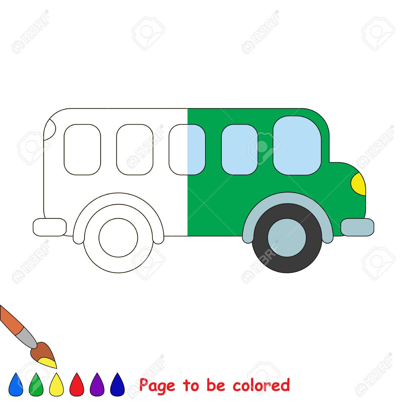 Van To Be Colored, The Coloring Book To Educate Preschool Kids ...