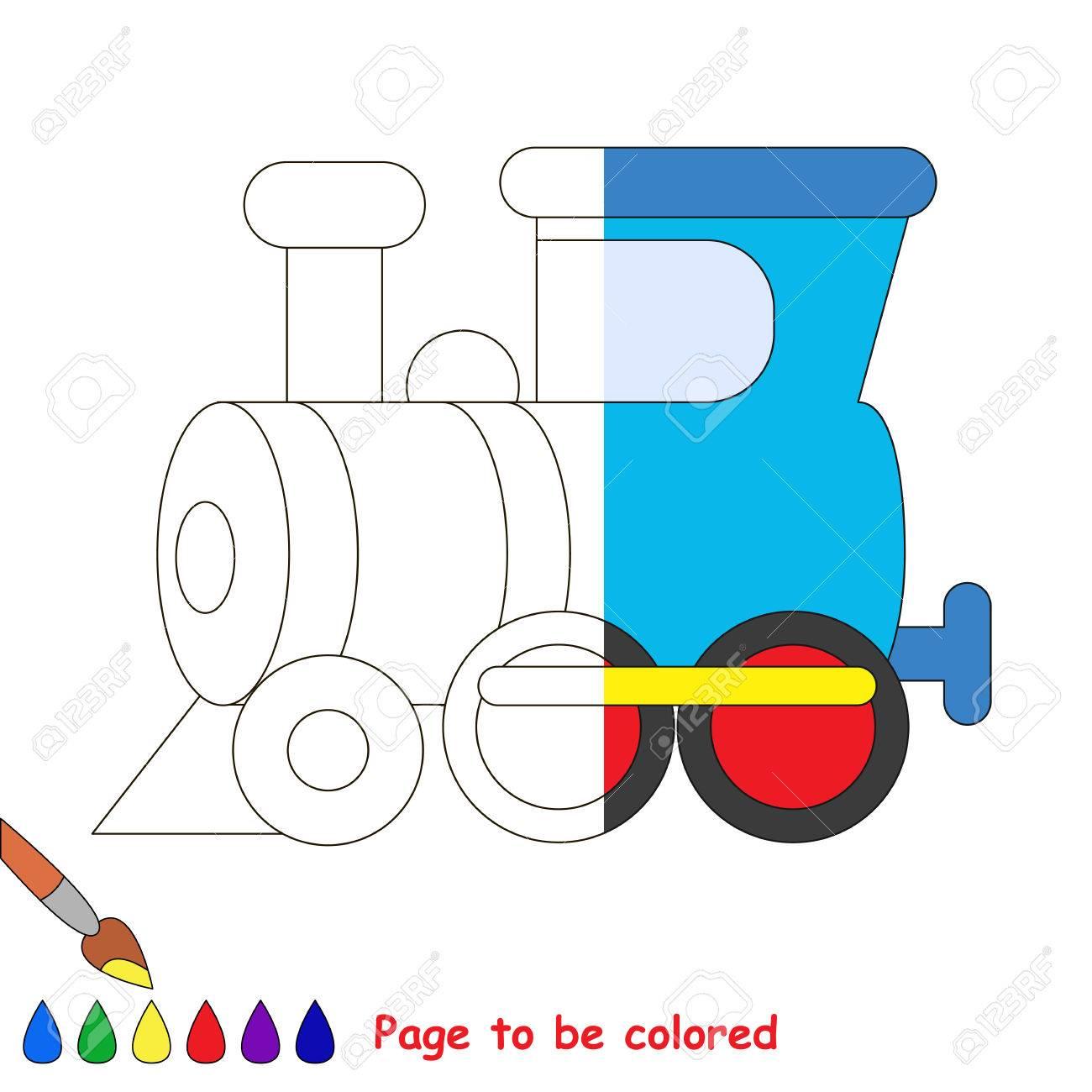 Vettoriale Treno Da Colorare Il Libro Da Colorare Per Educare I