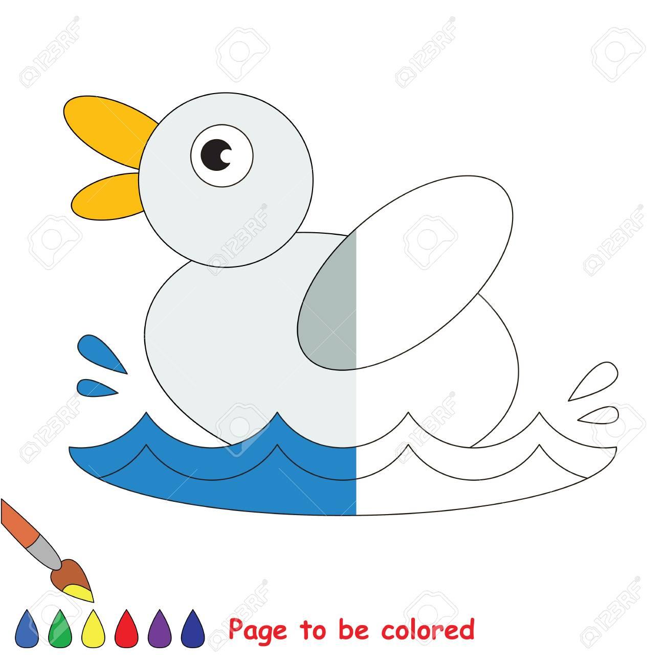 Pequeño Pato Para Colorear El Libro Para Colorear Para Educar A Los