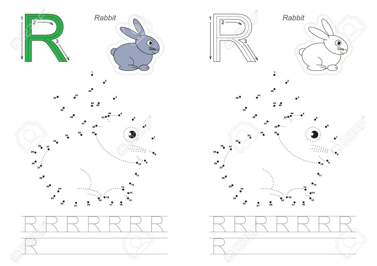 Alphabet Vector Exercice Avec Des Jeux éducatifs Pour Enfants Pour Apprendre L écriture Avec Un Niveau De Jeu Facile Pour Les Enfants D âge