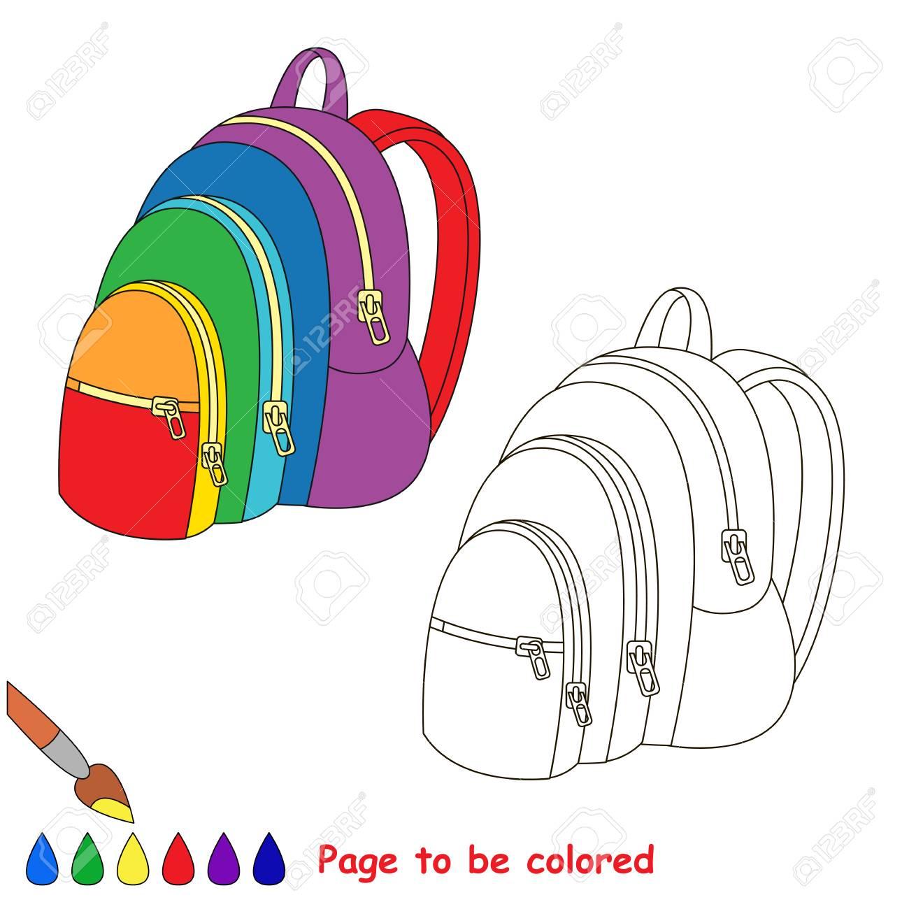 Vettoriale Zaino Arcobaleno Da Colorare Il Libro Da Colorare Per