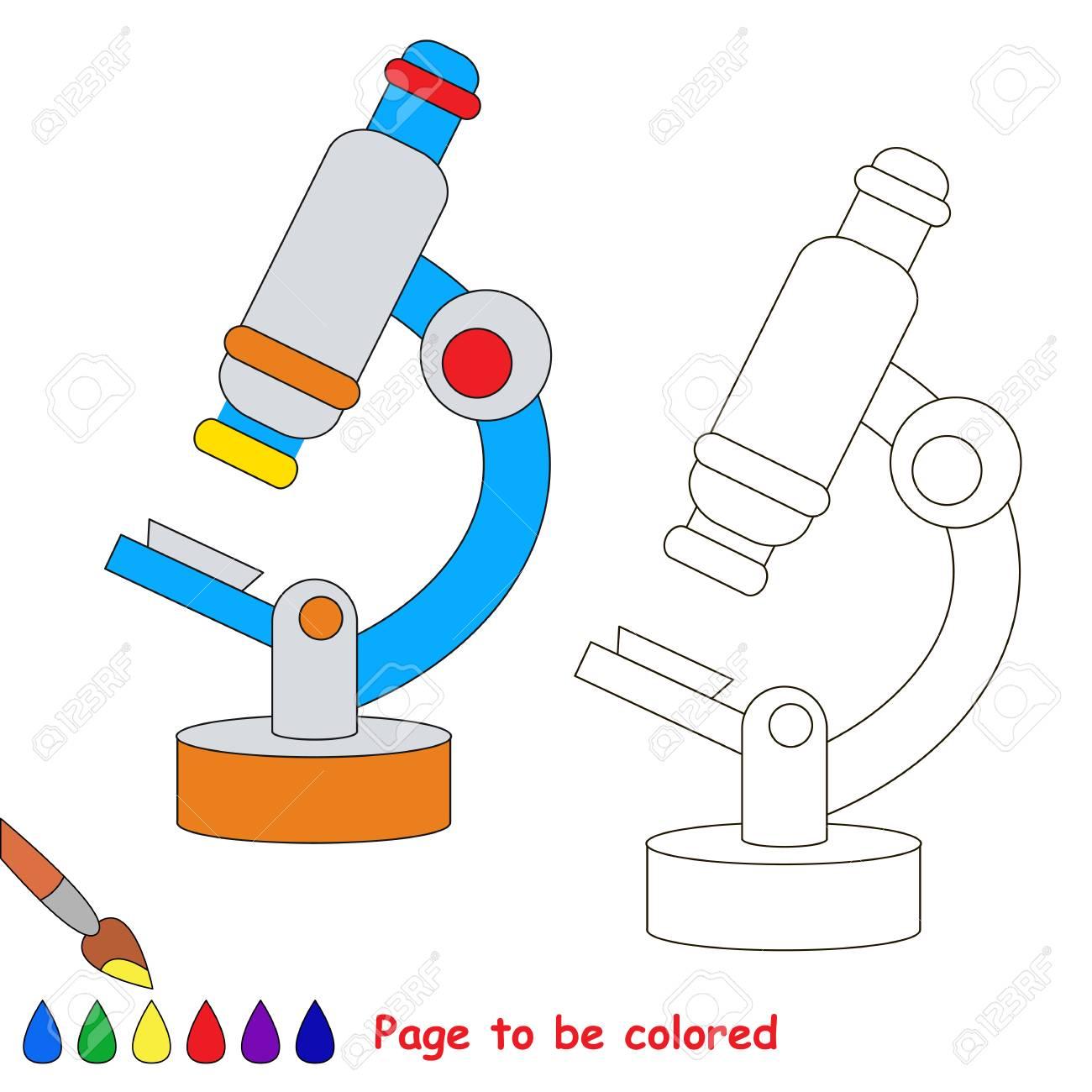 Microscopio Para Colorear, El Libro Para Colorear Para Educar A Los ...