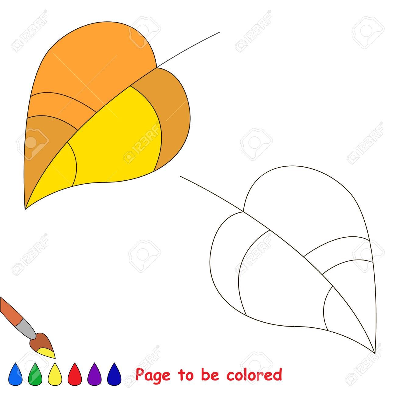 Vettoriale Foglia Gialla Da Colorare Il Libro Da Colorare Per