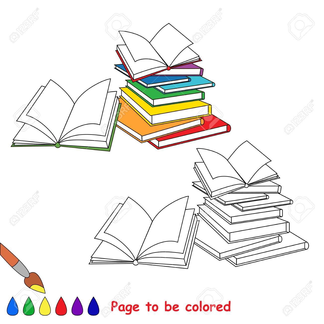 Vettoriale Molti Libri Aperti Da Colorare Il Libro Da Colorare
