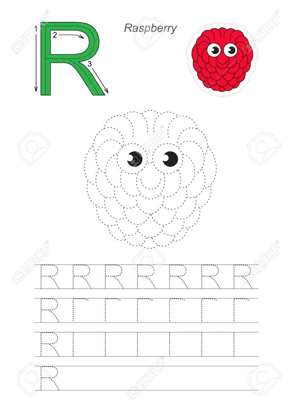 Vector Illustrated Worksheet To Preschool Children Learn Handwriting ...